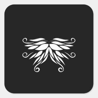 Adesivo Quadrado Ornamento brancos pretos do Nordic de Sibéria