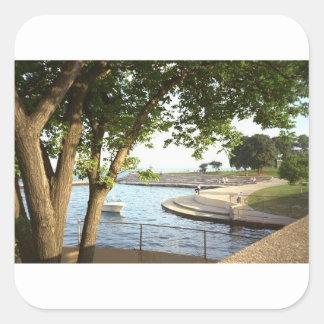 Adesivo Quadrado Os anos 70 das proximidades do lago de Chicago do