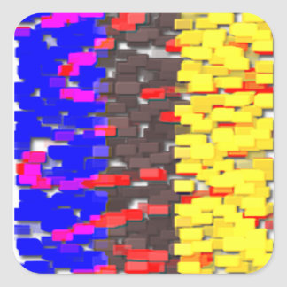 Adesivo Quadrado Os blocos de apartamentos coloridos
