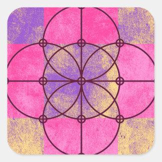 Adesivo Quadrado Os cinco círculos sagrados