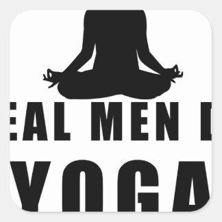 Adesivo Quadrado os homens reais fazem a ioga