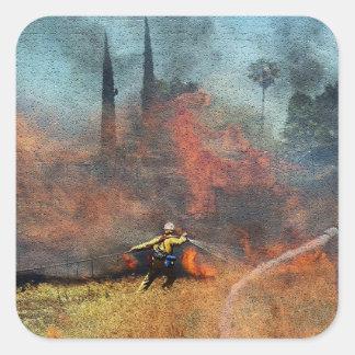 Adesivo Quadrado Os sapadores-bombeiros são nossos heróis