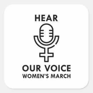Adesivo Quadrado Ouça nossa voz