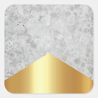 Adesivo Quadrado Ouro concreto #372 da seta