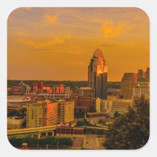 Adesivo Quadrado Ouro de Cincinnati