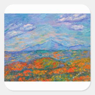 Adesivo Quadrado Outono azul enevoado de Ridge