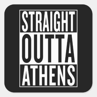 Adesivo Quadrado outta reto Atenas