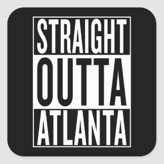 Adesivo Quadrado outta reto Atlanta