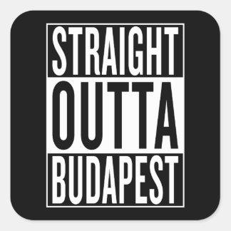 Adesivo Quadrado outta reto Budapest