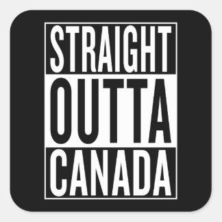 Adesivo Quadrado outta reto Canadá