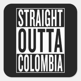 Adesivo Quadrado outta reto Colômbia