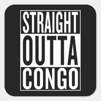 Adesivo Quadrado outta reto Congo