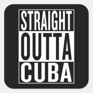 Adesivo Quadrado outta reto Cuba