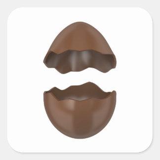 Adesivo Quadrado Ovo de chocolate quebrado