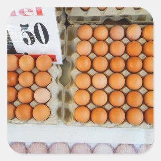 Adesivo Quadrado Ovos holandeses da fotografia no mercado