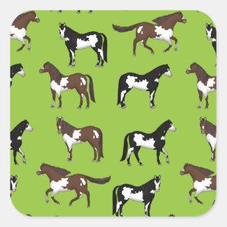 Adesivo Quadrado Paint Horse
