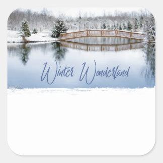 Adesivo Quadrado País das maravilhas do inverno