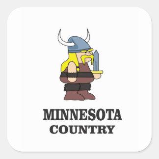 Adesivo Quadrado País de Minnesota