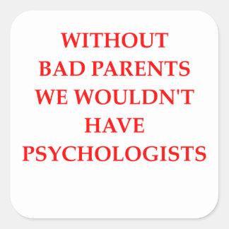 Adesivo Quadrado pais maus