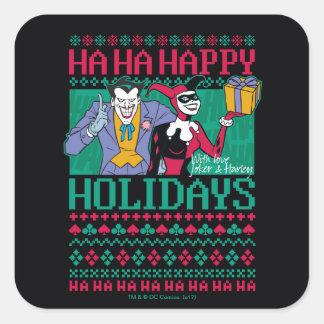 Adesivo Quadrado Palhaço de Batman | boas festas & Harley Quinn