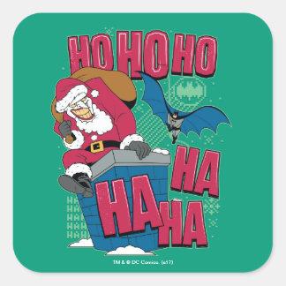 Adesivo Quadrado Palhaço Papai Noel de Batman | que escala para