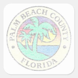 Adesivo Quadrado Palm Beach County