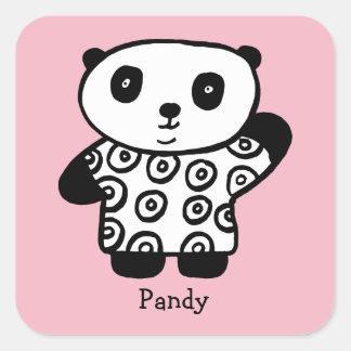 Adesivo Quadrado Pandy personalizado a panda