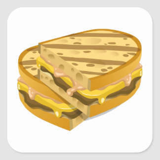 Adesivo Quadrado Panini óbvio da comida do pulso aleatório