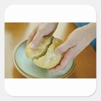 Adesivo Quadrado Pão da última ceia