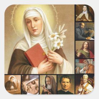 Adesivo Quadrado Papa santamente das freiras dos padres da colagem