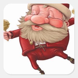Adesivo Quadrado Papai Noel e a dança do sino