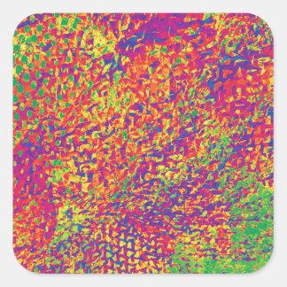 Adesivo Quadrado Para o amor das cores - Psychadelic