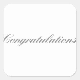 Adesivo Quadrado parabéns
