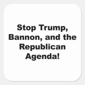 Adesivo Quadrado Pare o trunfo, o Bannon e a agenda republicana