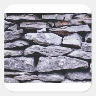 Adesivo Quadrado parede empilhada da rocha
