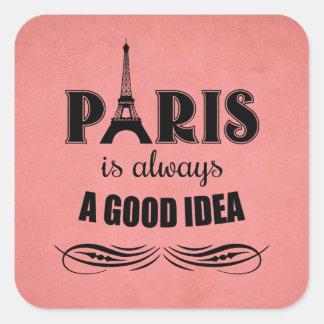 Adesivo Quadrado Paris é sempre uma boa ideia