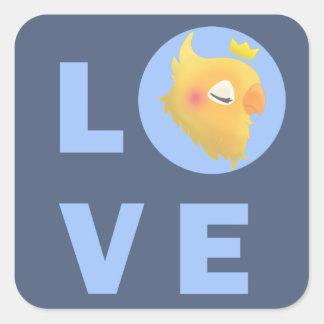 Adesivo Quadrado Pássaro do amor