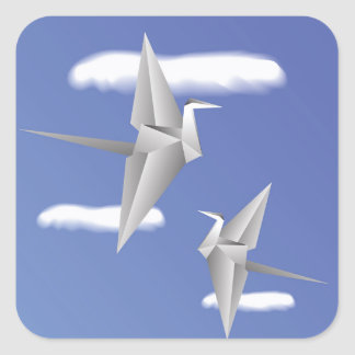 Adesivo Quadrado pássaros 78Paper _rasterized