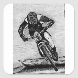 Adesivo Quadrado Passeio do Mountain bike
