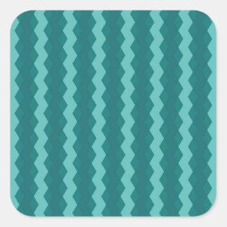 Adesivo Quadrado Pattern Blue Stripes - Linhas zigzag