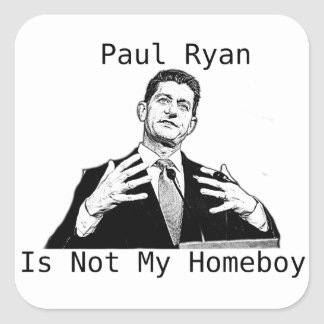 Adesivo Quadrado Paul Ryan não é meu ficar em casa (a ETIQUETA)
