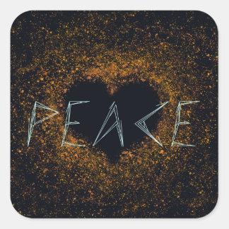Adesivo Quadrado paz-amor