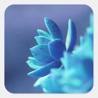 Adesivo Quadrado Paz azul