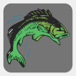 Adesivo Quadrado Peixes de salto