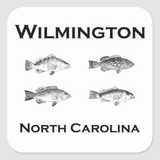 Adesivo Quadrado Peixes de Wilmington North Carolina (garoupa)