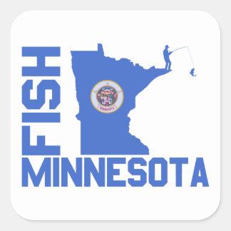 Adesivo Quadrado Peixes Minnesota