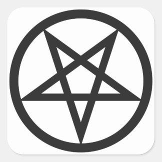 Adesivo Quadrado Pentagram corajoso