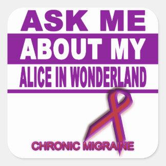 Adesivo Quadrado Pergunte-me sobre minha Alice no país das