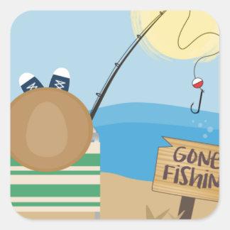 Adesivo Quadrado Pesca ida