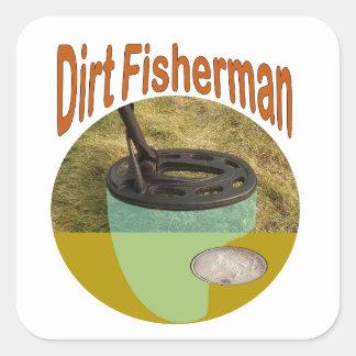 Adesivo Quadrado Pescador da sujeira - detecção do metal